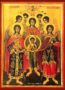 SYNAXIS OF THE HOLY ARCHANGELS, MICHAEL, GABRIEL, RAPHAEL, URIEL, SALAPHIEL, JEGUDIEL AND BARACHIEL, FULL BODY