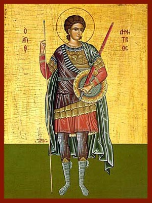 SAINT DEMETRIUS THE MYRRH-GUSHER, FULL BODY