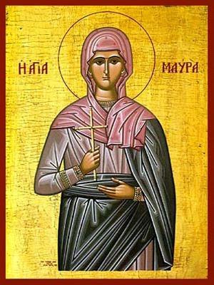 SAINT MAURA, MARTYR