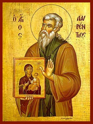 SAINT LAURENCE, FOUNDER OF THE MONASTERY OF THE MOTHER OF GOD IN SALAMINA, GREECE