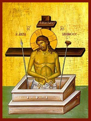 EXTREME HUMILITY: CHRIST, MAN OF SORROWS - Icon Print on Paper, 20×26cm / 8×10,4in