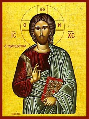 CHRIST BLESSING, THE LIGHT-GIVER