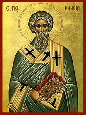 SAINT BLAISE, HIEROMARTYR, BISHOP OF SEBASTE