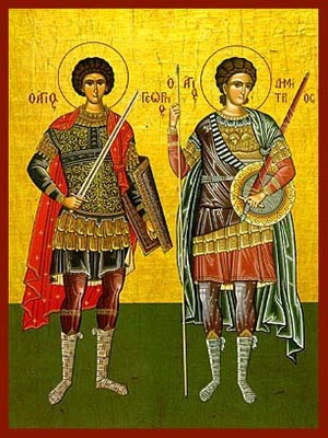 SAINTS GEORGE AND DEMETRIUS, FULL BODY