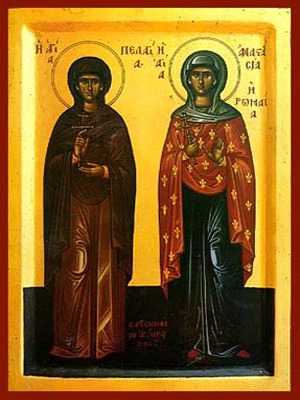 SAINTS PELAGIA, VIRGIN-MARTYR, OF ANTIOCH AND ANASTASIA, MARTYR, THE ROMAN, FULL BODY