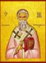 SAINT ALEXANDER, PATRIARCH OF ALEXANDRIA - Icon Print on Paper, 6×9cm / 2,4×3,6in