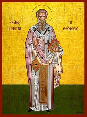 SAINT IGNATIUS HIEROMARTYR, THE GOD-BEARER, BISHOP OF ANTIOCH, FULL BODY