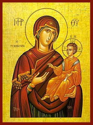 VIRGIN AND CHILD, HODEGETRIA, SAVIOUR OF SOULS