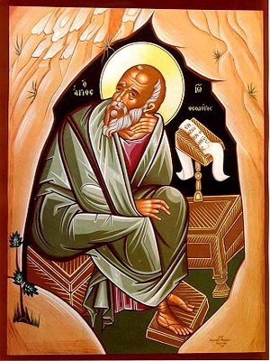 APOSTLE AND EVANGELIST SAINT JOHN THE THEOLOGIAN IN CAVE, FULL BODY