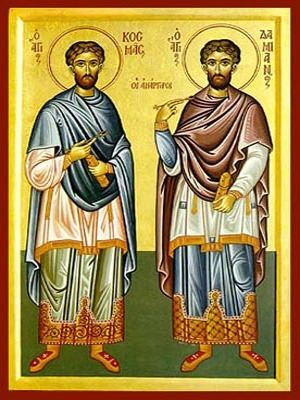 SAINTS COSMAS AND DAMIAN, THE HOLY UNMERCENARIES, FULL BODY