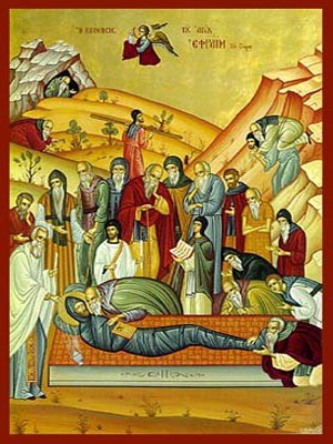 SAINT EPHRAIM THE SYRIAN, REPOSE