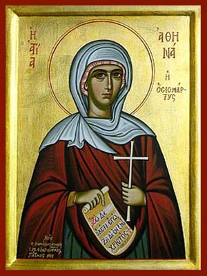 SAINT ATHENA, VIRGIN-MARTYR