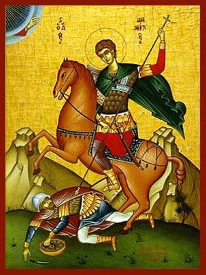 SAINT DEMETRIUS THE MYRRH-GUSHER, ON HORSEBACK