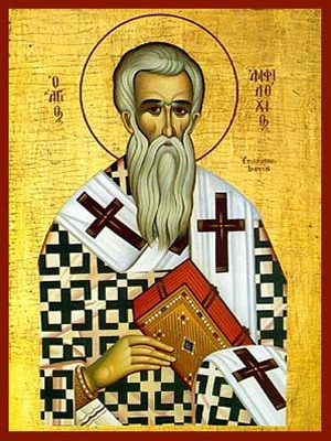 SAINT AMPHILOCHIUS, BISHOP OF ICONIUM