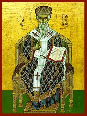 SAINT PARTHENIUS, BISHOP OF LAMPSACUS ON THE HELLESPOND, ENTHRONED