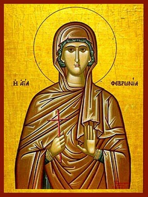 SAINT FEBRONIA, VIRGIN-MARTYR