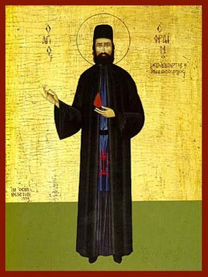 SAINT EPHRAIM, THE NEW MONK-MARTYR OF MOUNT AMOMON, GREECE, FULL BODY