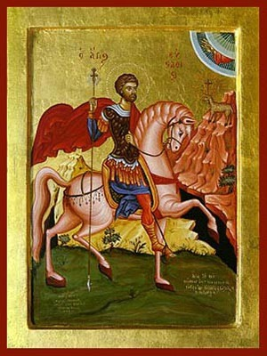 SAINT EUSTATHIOS PLACIDAS, THE GREAT MARTYR, ON HORSEBACK