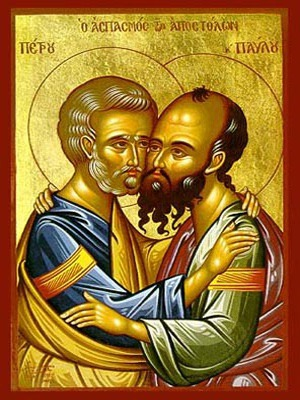 HOLY APOSTLES PETER AND PAUL, THE EMBRACEMENT