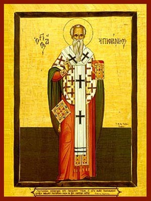 SAINT EPIPHANIUS, BISHOP OF CYPRUS, FULL BODY