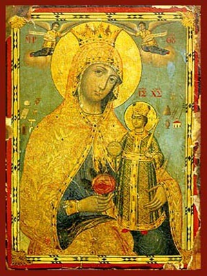 VIRGIN AND CHILD, UNWITHERING ROSE
