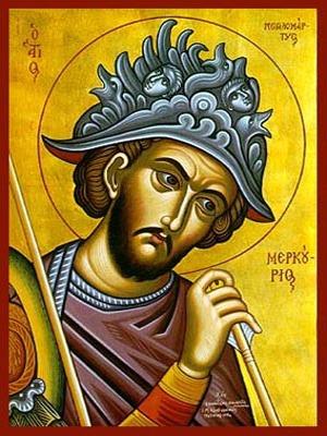SAINT MERCURIUS, THE GREAT-MARTYR, OF CAESAREA IN CAPPADOCIA, BUST