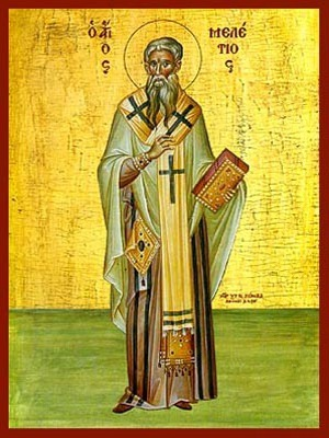 SAINT MELETIUS, ARCHBISHOP OF ANTIOCH, FULL BODY