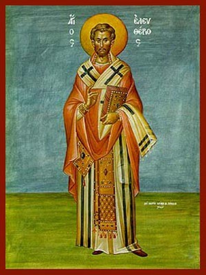 SAINT ELEUTHERIUS, HIEROMARTYR, BISHOP OF ILLYRIA, FULL BODY