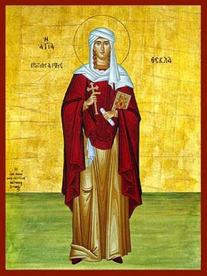 SAINT THECLA, FIRST WOMAN MARTYR AND EQUAL-TO-THE-APOSTLES, OF ICONIUM, FULL BODY
