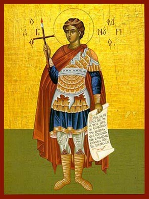 SAINT PHANURIUS, THE GREAT MARTYR, FULL BODY