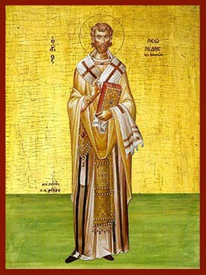 SAINT LEONIDES, BISHOP OF ATHENS, GREECE, FULL BODY
