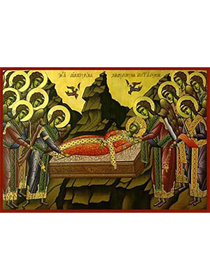 SAINT CATHERINE THE GREAT MARTYR, OF ALEXANDRIA, BURIED BY THE ANGELS