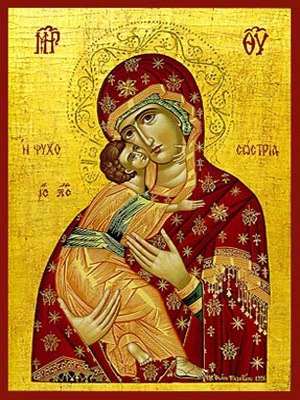 VIRGIN AND CHILD, SWEET KISSING, SAVIOUR OF SOULS