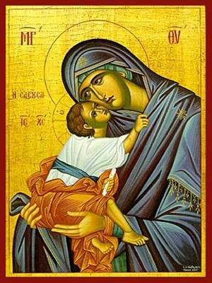 VIRGIN AND CHILD, SWEET KISSING, MERCIFUL