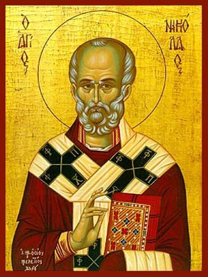 SAINT NICHOLAS, ARCHBISHOP OF MYRA IN LYCIA