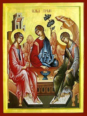 HOLY TRINITY (THREE ANGELS, FROM THE HOSPITALITY OF ABRAHAM)