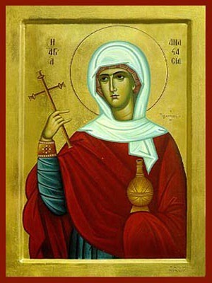 SAINT ANASTASIA THE GREAT MARTYR, DELIVERER FROM BONDS