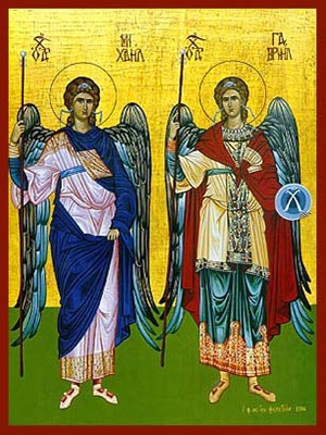 SYNAXIS OF THE HOLY ARCHANGELS MICHAEL AND GABRIEL, FULL BODY