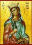 SAINT CATHERINE THE GREAT MARTYR, OF ALEXANDRIA - Icon Print on Paper, 14×20cm / 5,6×8in