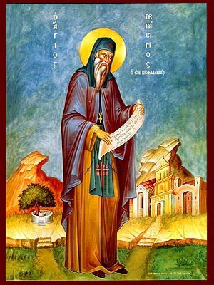 SAINT GERASIMUS THE NEW ASCETIC OF CEPHALONIA, GREECE, FULL BODY