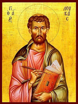 APOSTLE AND EVANGELIST SAINT LUKE - Icon Print on Paper, 20×26cm / 8×10,4in