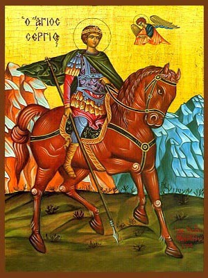 SAINT SERGIUS, MARTYR, IN SYRIA, ON HORSEBACK