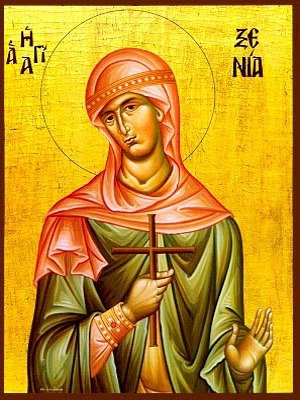 SAINT XENIA, THE GREAT MARTYR, OF PELOPONESUS, GREECE