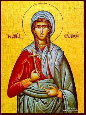SAINT EUDOXIA, MARTYR, AT CANOPUS IN EGYPT