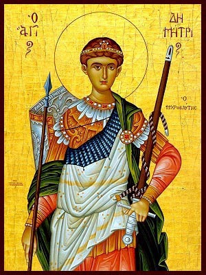 SAINT DEMETRIUS THE MYRRH-GUSHER, HALF