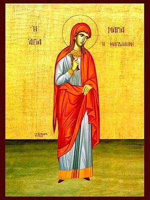 SAINT MARY MAGDALEN, THE MYRRH-BEARER, FULL BODY