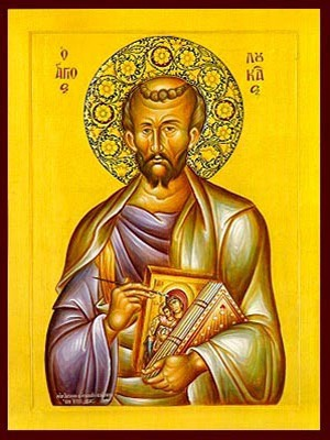 APOSTLE AND EVANGELIST SAINT LUKE WITH HAGIOGRAPHY