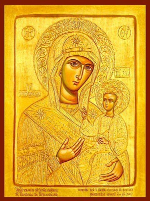 VIRGIN AND CHILD, HODEGETRIA, QUEEN OF THE UNIVERSE, OF PROUSA, GREECE