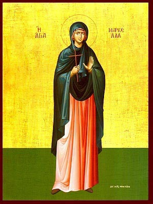 SAINT MARCELLA, MARTYR, OF CHIOS, GREECE, FULL BODY