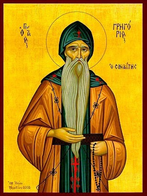 SAINT GREGORY THE SINAITE